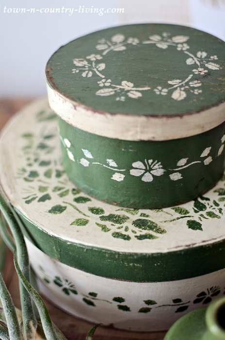 Vintage Style Paper Mache Boxes for Storage