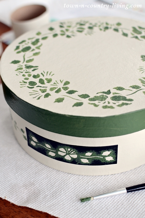 How to Stencil Paper Mache Boxes for a Vintage Look