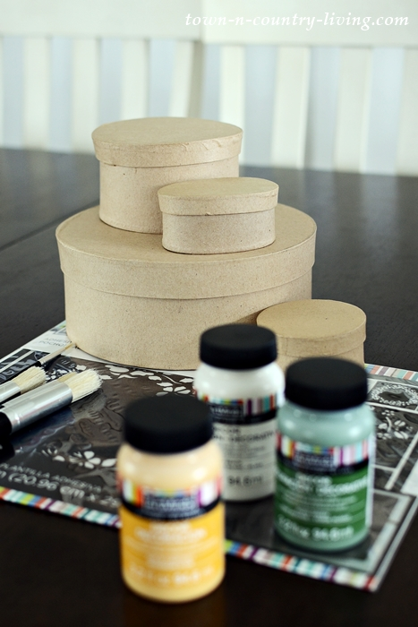 Supplies for Decorating Paper Mache Boxes
