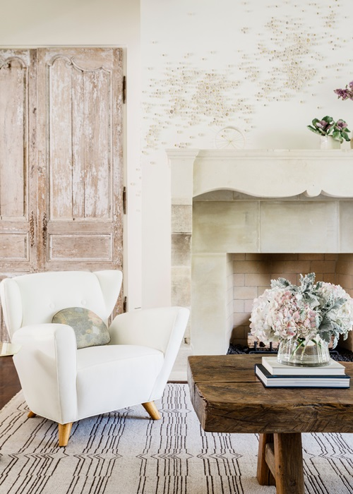 Romantic Creamy White Living Spaces Town Country Living