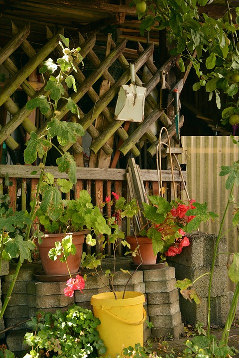 Gardening Station in the Yard