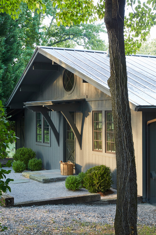Small Dark Gray Ranch Home