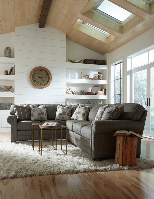 Sectional Sofa in Farmhouse Living Room