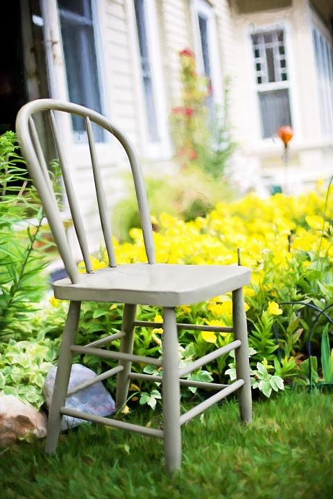 Cottage Chair in Flower Garden