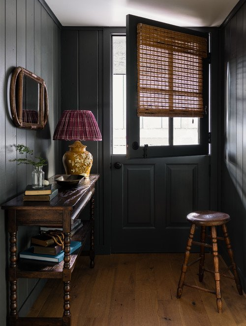 Snug Cabin Entryway in Dark Colors