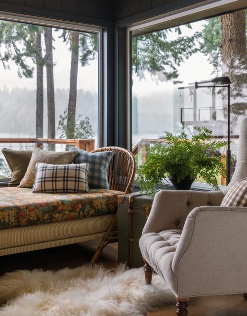 Sun Room with Rattan Furniture