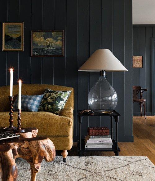 Rustic Living Room in Cozy Cabin