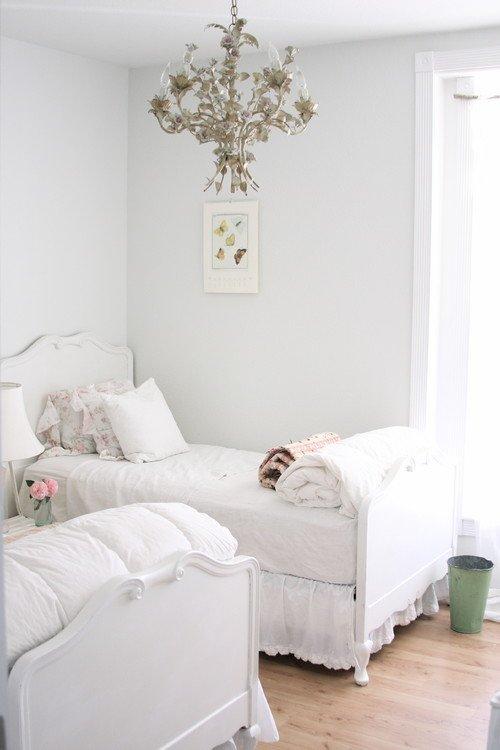 Dreamy White Little Girls Bedroom