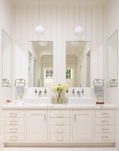 White and Cream Master Bathroom