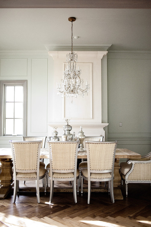 White and Cream Dining Room