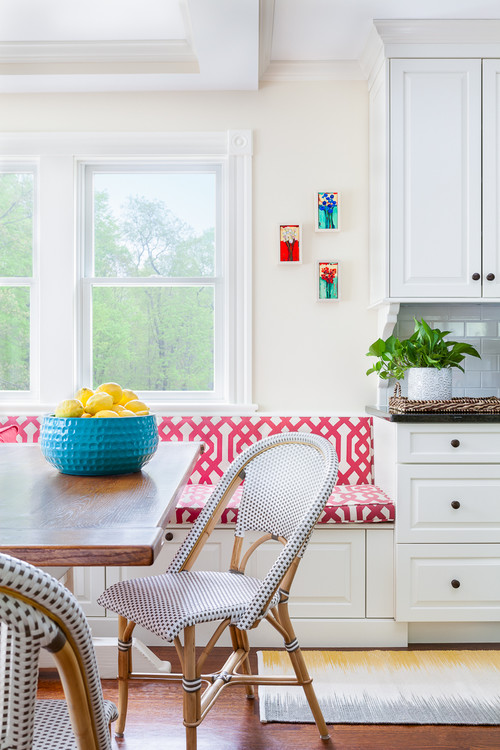 Bright and cheery breakfast nook