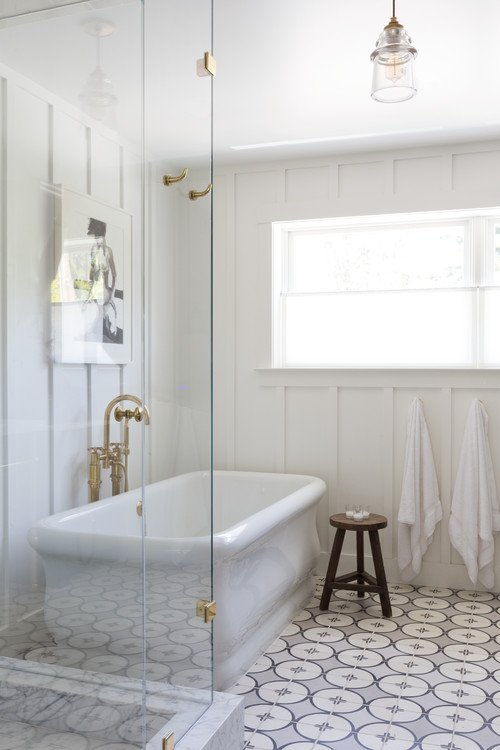 Modern Farmhouse Bathroom in Converted Church