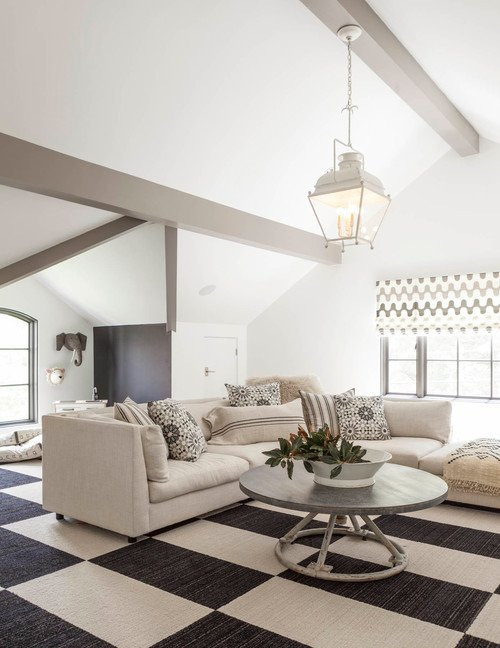 Transitional Living Room in Neutral Tones