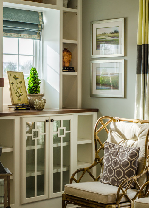 Create a built-in cabinet to frame a window