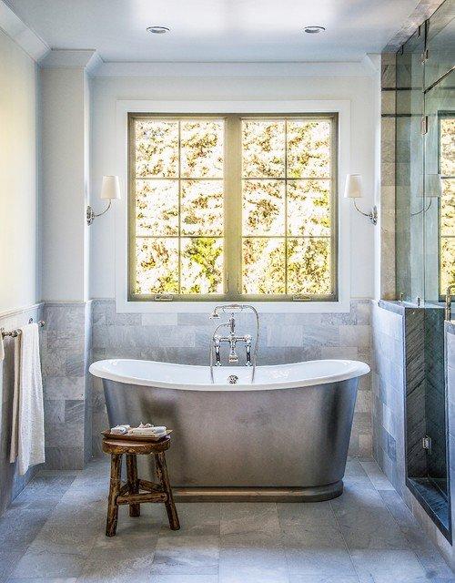 Glamorous Bathroom with Standalone Tub