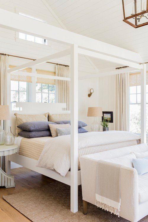 White Coastal Style Bedroom