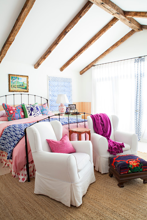 Colorful Beach Style Bedroom