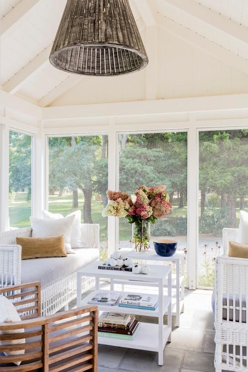 White Beach Style Porch