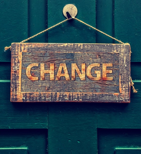 Changes are coming. New beginnings