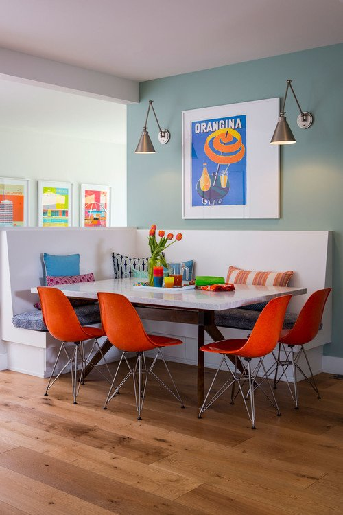 Colorful Contemporary Dining Room