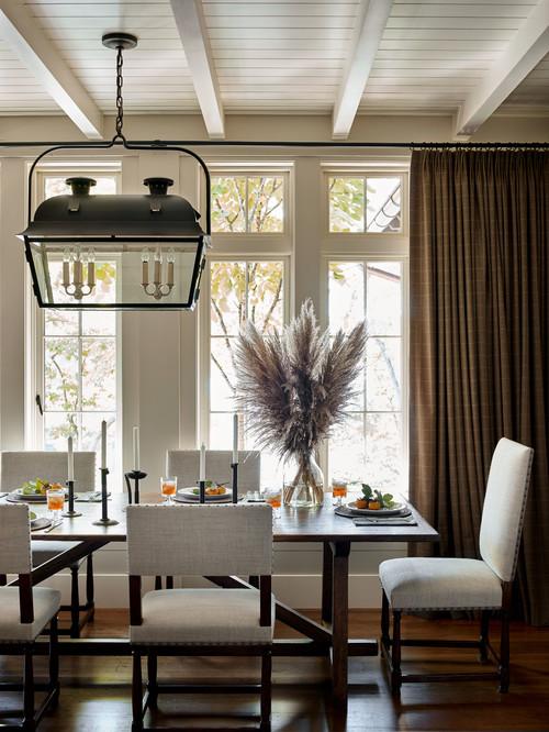 Neutral Dining Room in Lake Keeowee South Carolina
