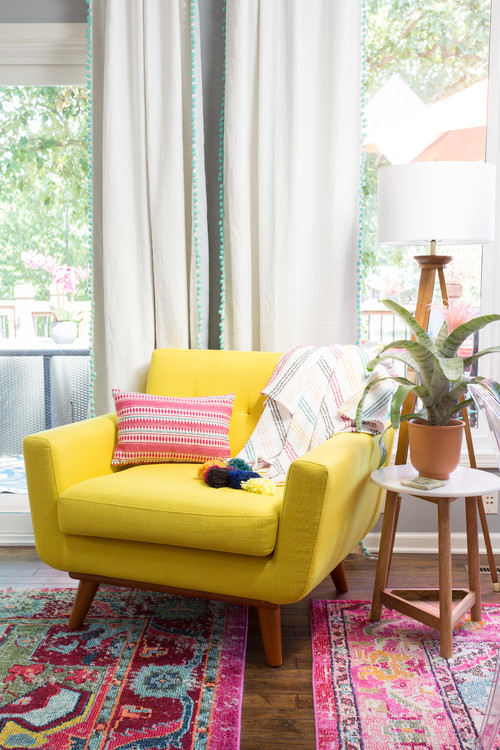Yellow Mid-Century Modern Chair