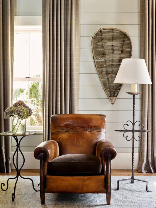 Cozy Reading Corner with Leather Chair