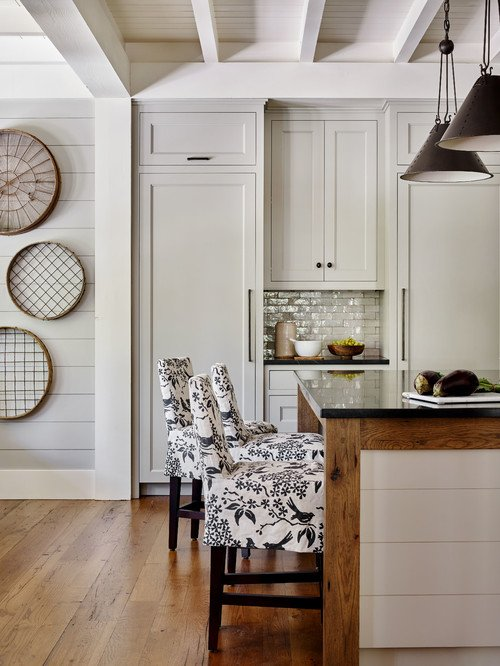 Eat In Kitchen in Neutral Tones and Textures