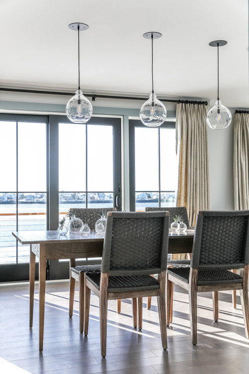Coastal Style Dining Room in Portland, Maine