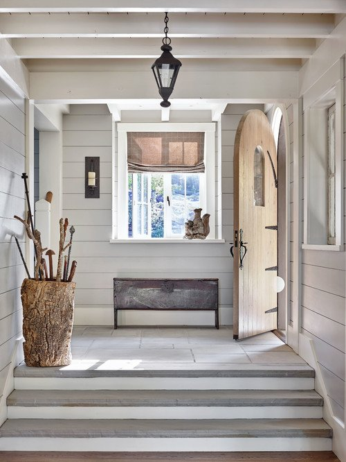 Rustic Entryway in Lake Home