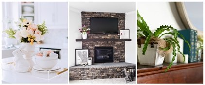 Seasonal Simplicity Spring Mantel