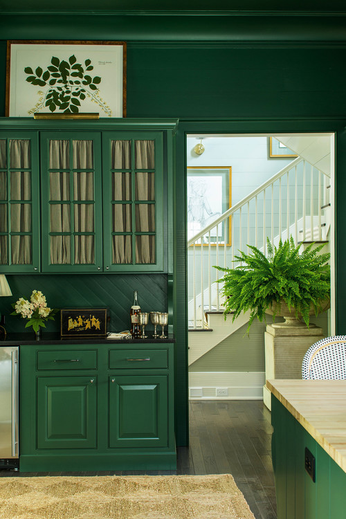 Rich Green Kitchen Cabinetry