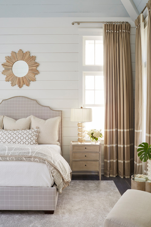 Transitional Bedroom in Neutral Tones