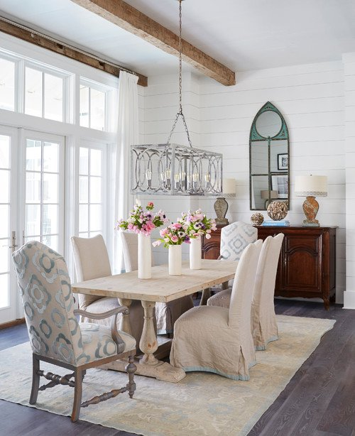 Light and Airy Beach Style Dining Room