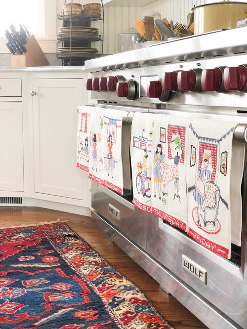 Vintage Kitchen Towels - Monday through Sunday