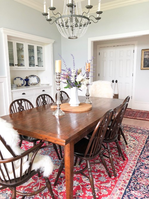 Traditional Style Dining Room in Maine Home