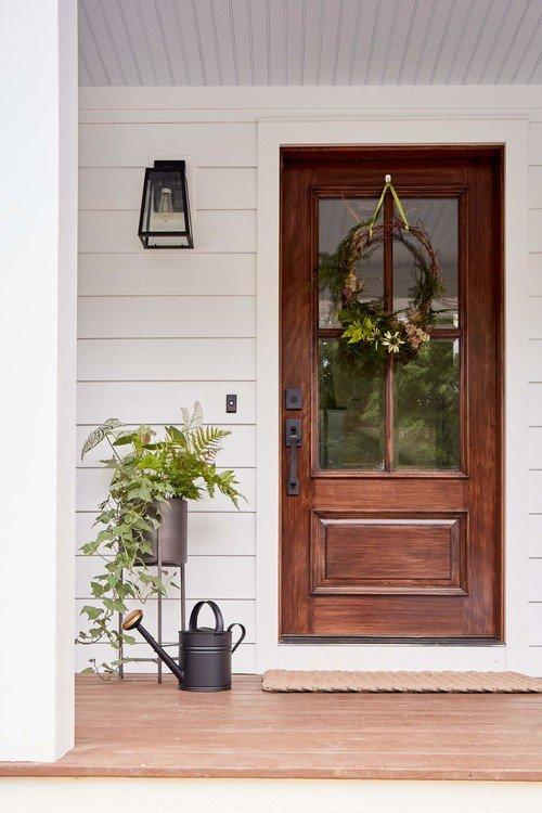Gorgeous Glass Front Wooden Door