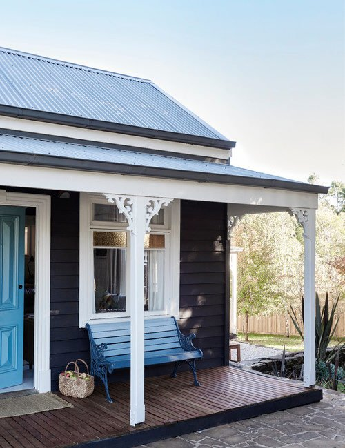 Blue Cottage with Full Front Porch