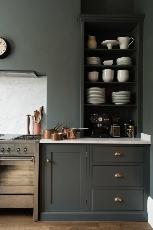 Dark Gray Kitchen by deVOL