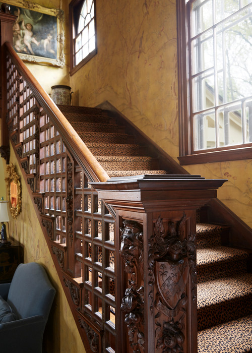 Grand Staircase in Victorian Home