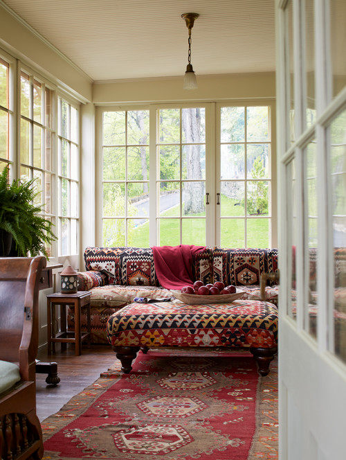 Victorian Sunroom with Boho Chic Flair