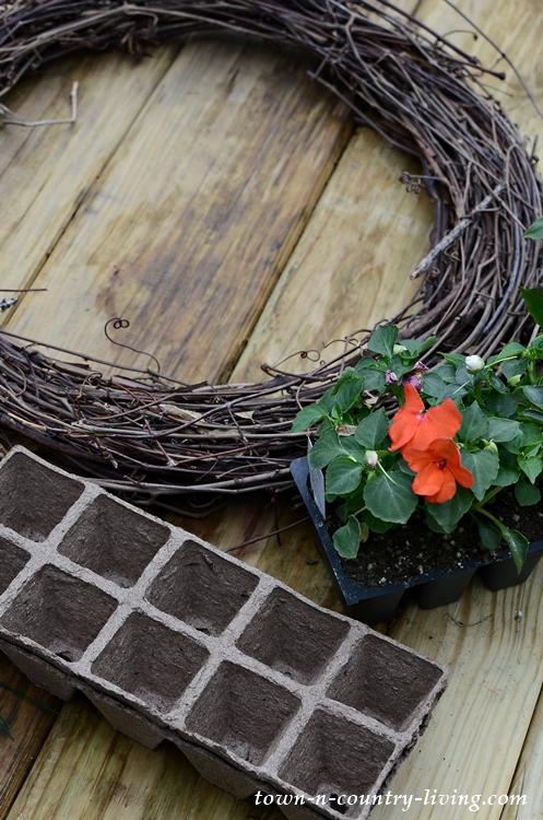 Supplies to Make a Natural Grapevine Wreath