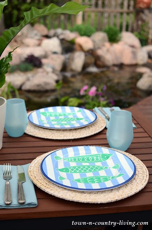 Melamine Fish Dishes for Outdoor Summer Dining