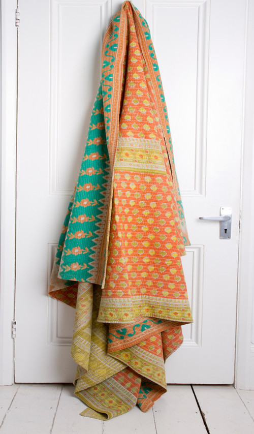 Kantha Blankets in Summer Colors