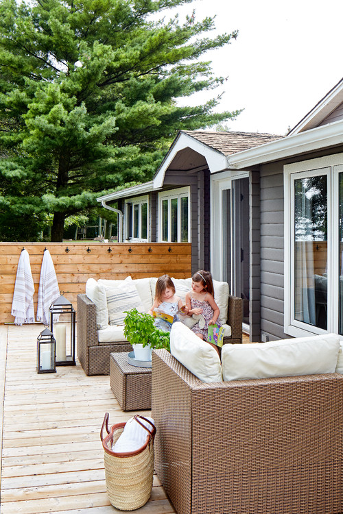 Summer Deck on a Lake Cottage
