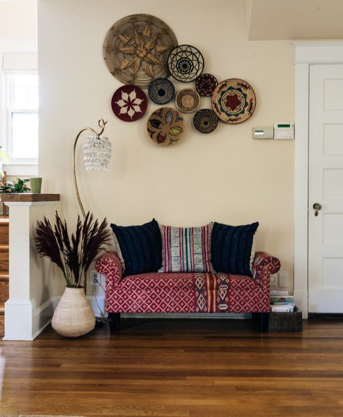 Love Seat Upholstered in Kantha