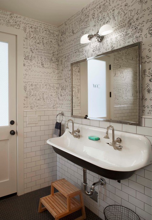 Kids Farmhouse Bathroom