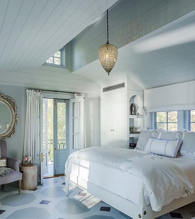 Farmhouse Bedroom in Cream and White