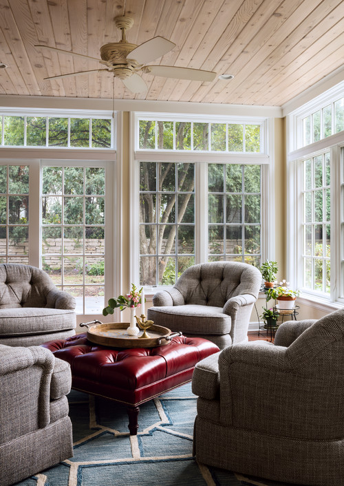 Classic Sun Room with Upholstered Furniture