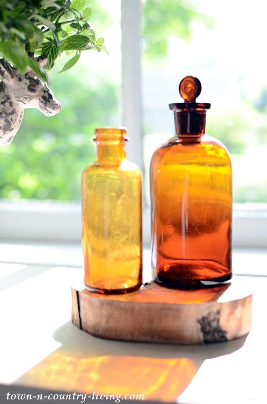 Vintage Amber Bottles